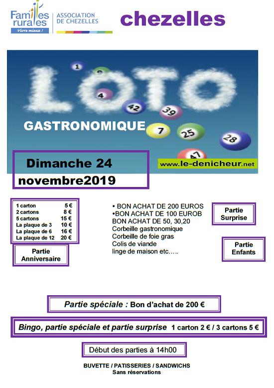 w24 - DIM 24 novembre - CHEZELLES - Loto de Familles Rurales */ 11-24_23