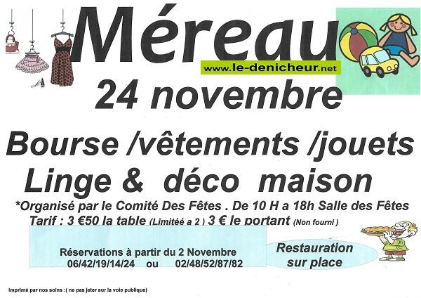 w24 - DIM 24 novembre - MEREAU - Bourse aux vêtements, jouets . . .*/ 11-24_33