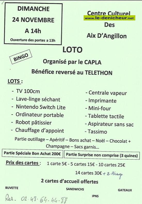 w24 - DIM 24 novembre - LES AIX D'ANGILLON - Loto au profit du téléthon */ 11-24_34