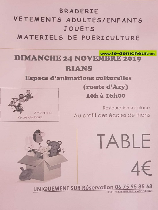 w24 - DIM 24 novembre - RIANS - Braderie vêtements, jouets, puériculture */ 11-24_35