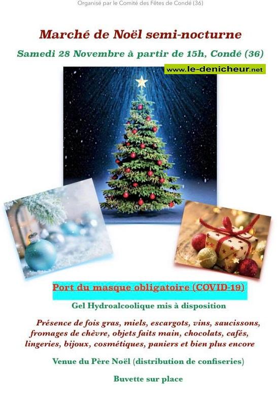 k28 - SAM 28 novembre - CONDE - Marché de Noël * 11-28_11