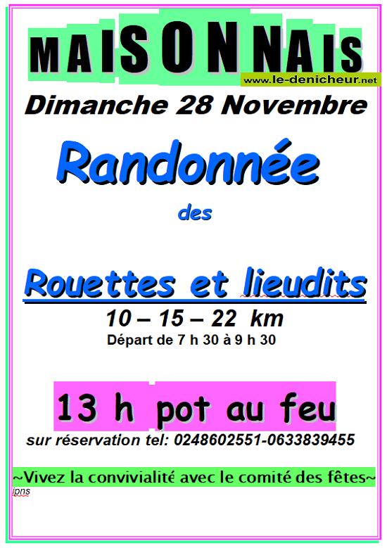 w28 - DIM 28 novembre - MAISONNAIS - Randonnée pédestre */ 11-28_11