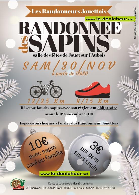 w30 - SAM 30 novembre - JOUET /l'Aubois - Randonnée pédestre et VTT */ 11-30_13