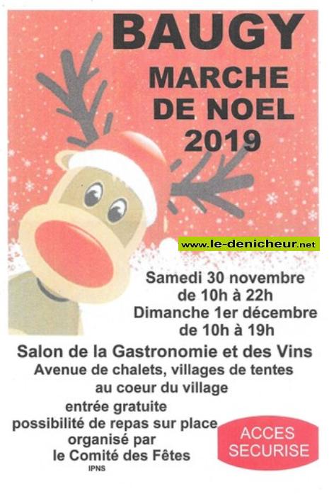 x01 - DIM 01 décembre - BAUGY - Marché de Noël * 11-30_18