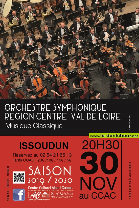 w30 - SAM 30 novembre - ISSOUDUN - Orchestre Symphonique Région Centre*/ 11-30_22