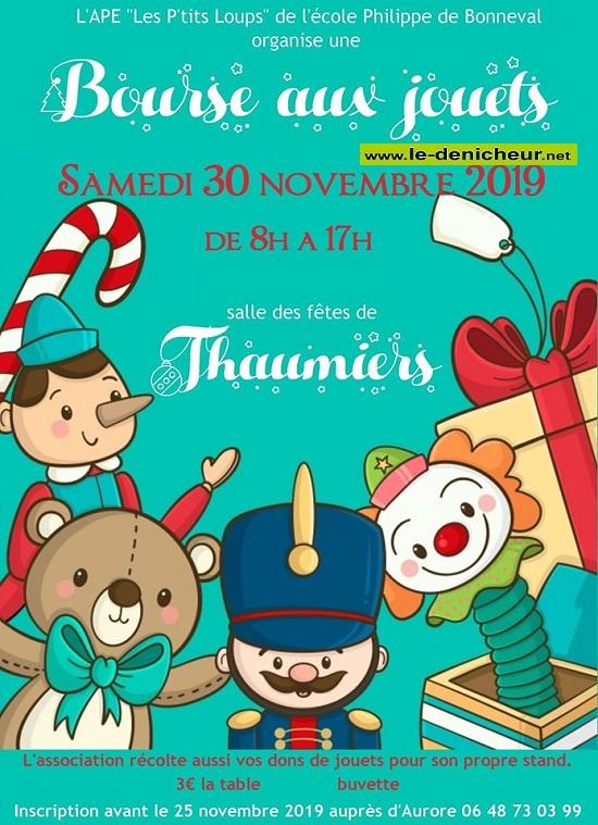 w30 - SAM 30 novembre - THAUMIERS - Bourse aux jouets * 11-30_25