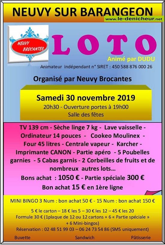w30 - SAM 30 novembre - NEUVY /Barangeon - Loto de Neuvy Brocante */ 11-30_27
