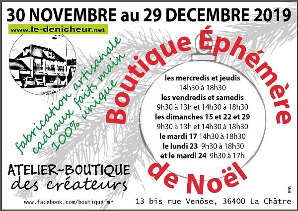 w29 - Jusqu'au 29 décembre - LA CHÂTRE - Boutique éphémère de Noël _* 11-30_49