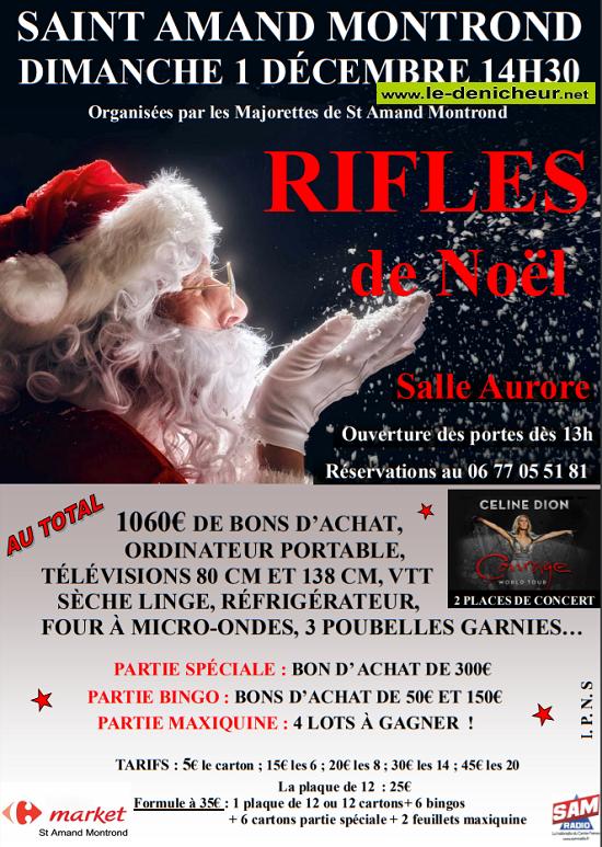 x01 - DIM 01 décembre - ST-AMAND-MONTROND - Rifles des majorettes */ 12-0110