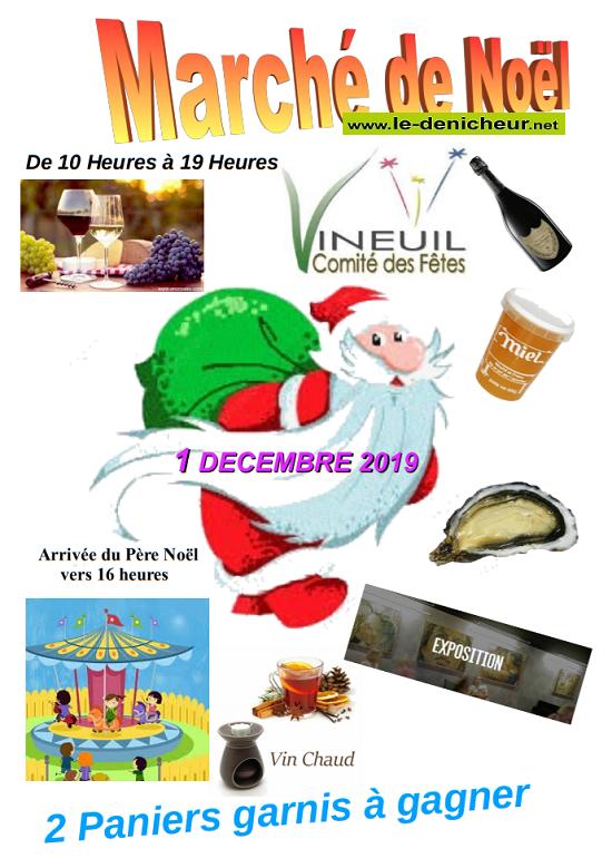 x01 - DIM 01 décembre - VINEUIL - Marché de Noël du comité des fêtes */ 12-01_21