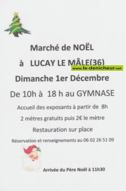 x01 - DIM 01 décembre - LUCAY LE MÂLE - Marché de Noël * 12-01_22
