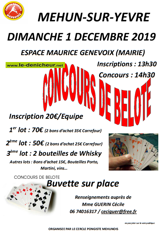 x01 - DIM 01 décembre - MEHUN /Yèvre - Concours de belote .*/ 12-01_24