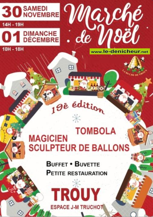 w30 - SAM 30 novembre - TROUY - Marché de Noël * 12-01_25