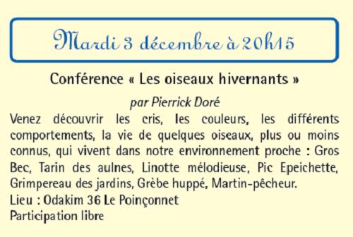 x03 - MAR 03 décembre - LE POINCONNET - Les oiseaux hivernants (conférence) 12-03_10
