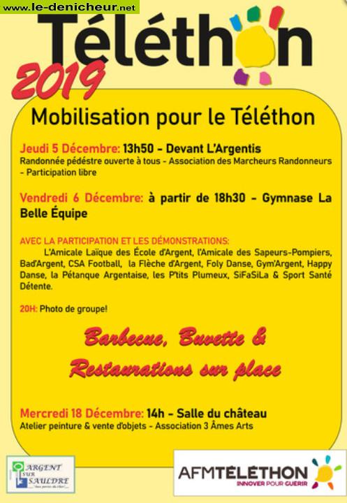x06 - VEN 06 décembre - ARGENT /Sauldre - Téléthon * 12-05_12