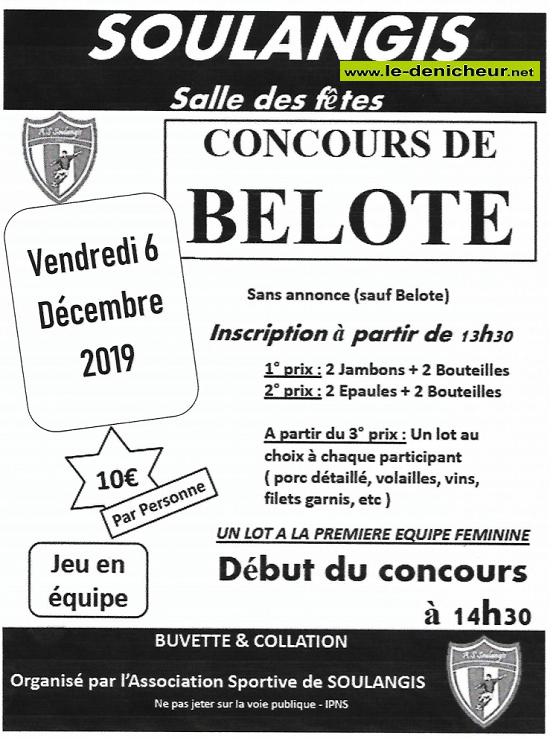 x06 - VEN 06 décembre - SOULANGIS - Concours de belote */ 12-06_12