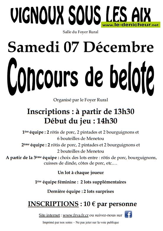 x07 - SAM 07 décembre - VIGNOUX sous les Aix - Concours de belote */ 12-07_14