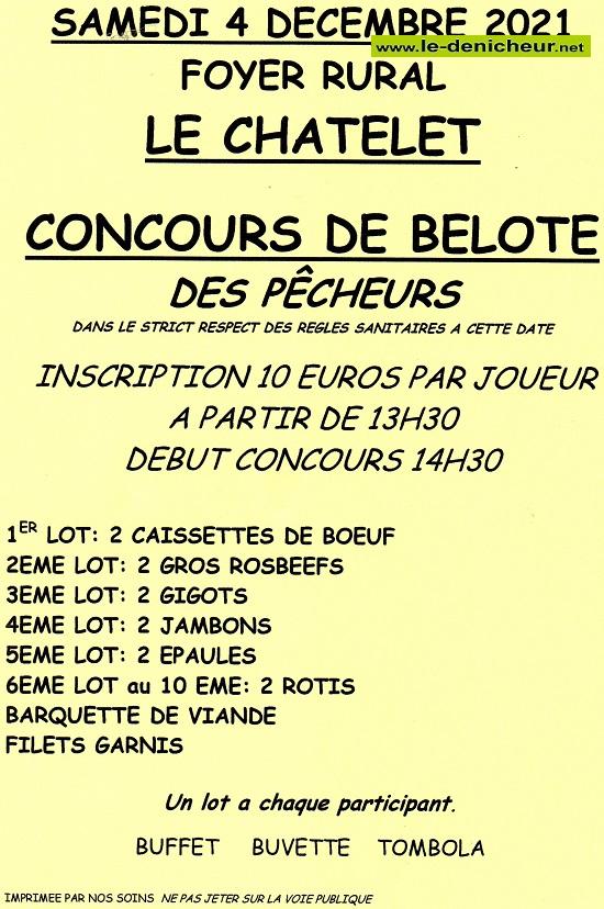 x04 - SAM 04 décembre - LE CHATELET - Concours de belote */ 12-07_37