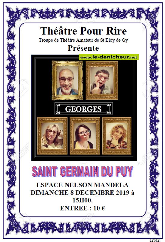 x08 - DIM 08 décembre - ST-GERMAIN DU PUY - Georges (théâtre) */ 12-08_19