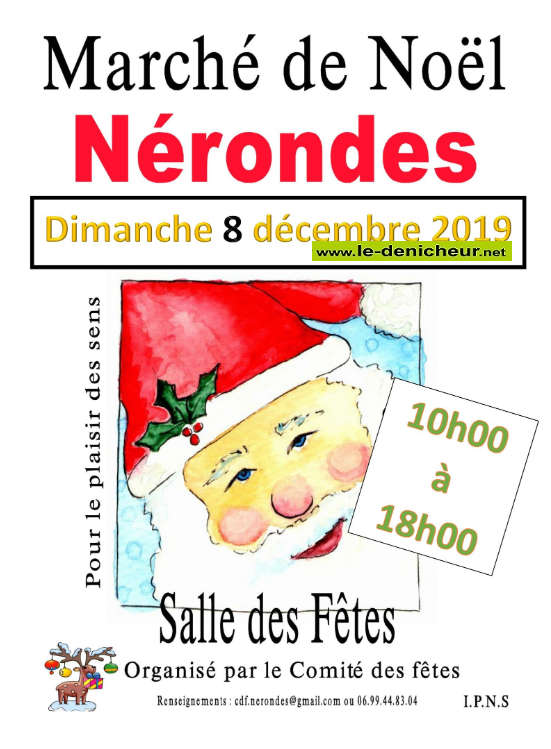 x08 - DIM 08 décembre - NERONDES - Marché de Noël * 12-08_21