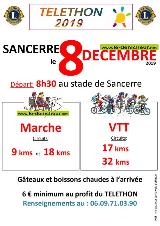 x08 - DIM 08 décembre - SANCERRE - Randonnée pédestre et VTT */ 12-08_23