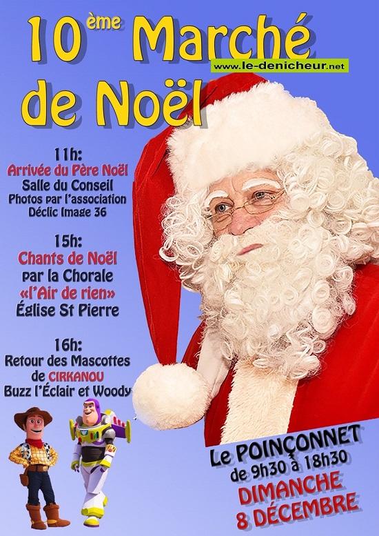x08 - DIM 08 décembre - LE POICONNET - marché de Noël du comité des fêtes */ 12-08_24