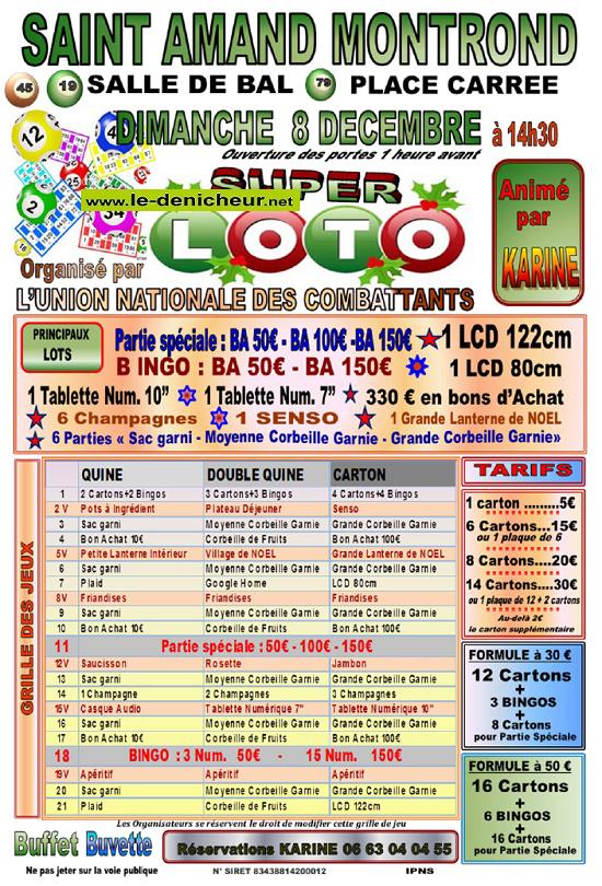 x08 - DIM 08 décembre - ST-AMAND-MONTROND - Loto de l'UNC */ 12-08_25