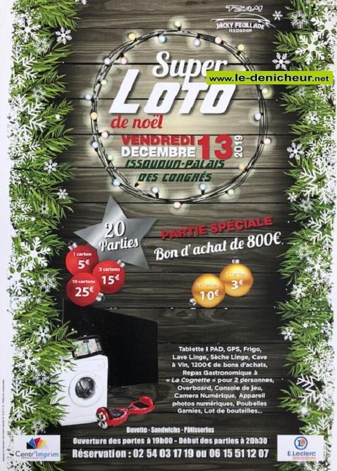 x13 - VEN 13 décembre - ISSOUDUN - Loto du Team Feuillade */ 12-13_14