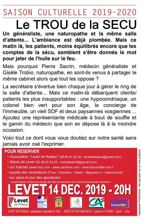 x14 - SAM 14 décembre - LEVET - Le Trou de la Sécu (théâtre) */ 12-14_15