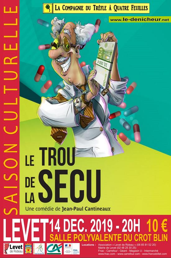 x14 - SAM 14 décembre - LEVET - Le Trou de la Sécu (théâtre) */ 12-14_16