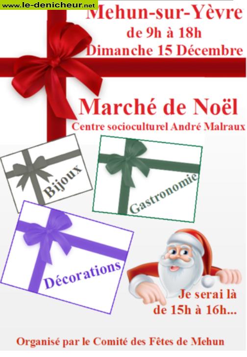 x15 - DIM 15 décembre - MEHUN /Yèvre - Marché de Noël * 12-15_18