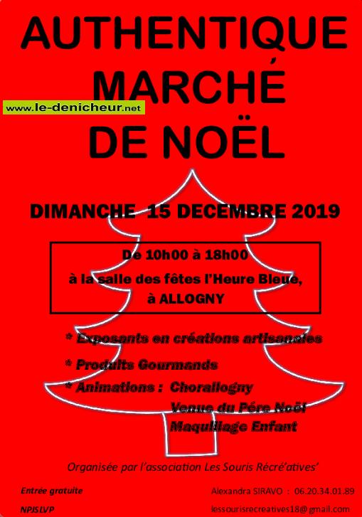 x15 - DIM 15 décembre - ALLOGNY - Marché de Noël * 12-15_19