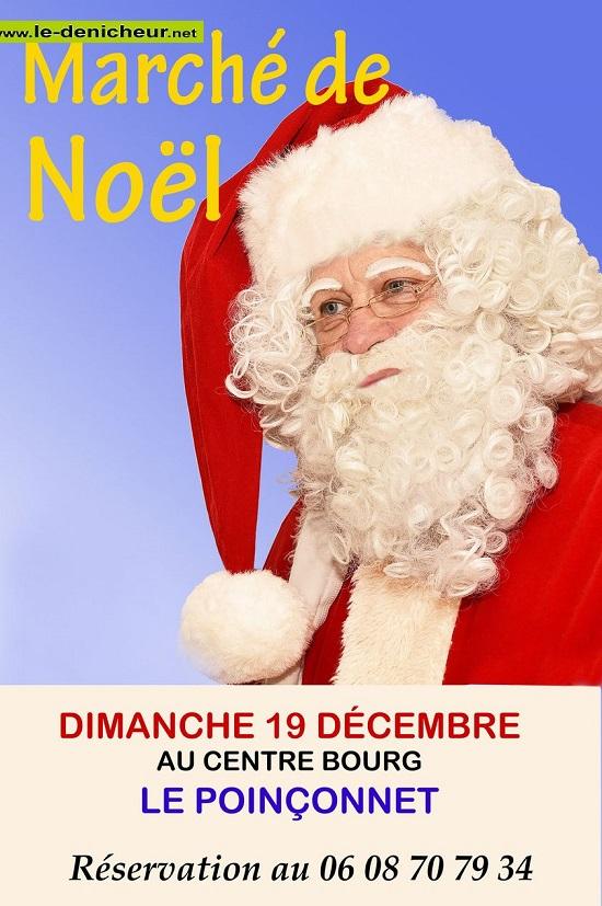 x19 - DIM 19 décembre - LE POINCONNET - Marché de Noël du comité des fêtes * 12-1912