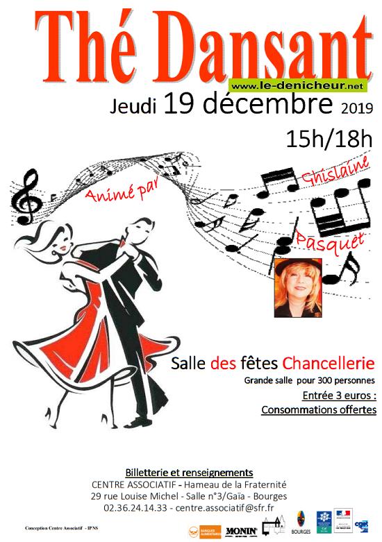 x19 - JEU 19 décembre - BOURGES - Thé dansant avec Ghislaine Pasquet */ 12-19_10