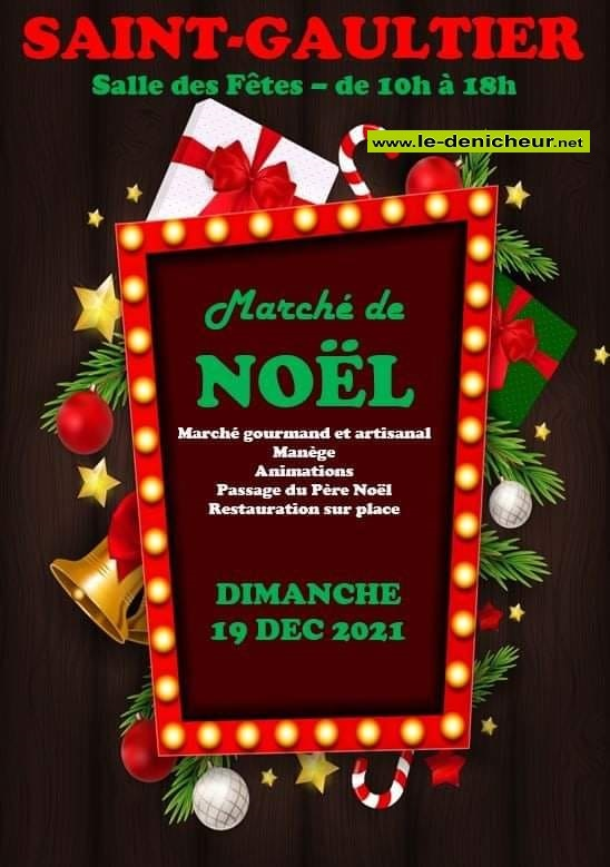 x19 - DIM 19 décembre - ST-GAULTIER - Marché de Noël * 12-19_20