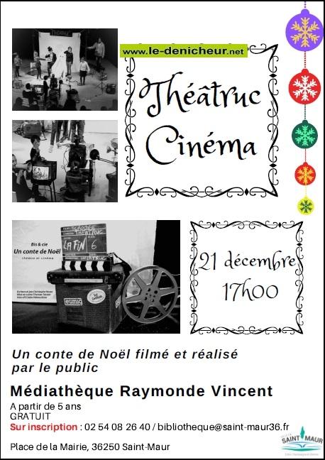 x21 - SAM 21 décembre - ST-MAUR - Un Conte de Noël (Théâtre Cinéma) */ 12-21_22