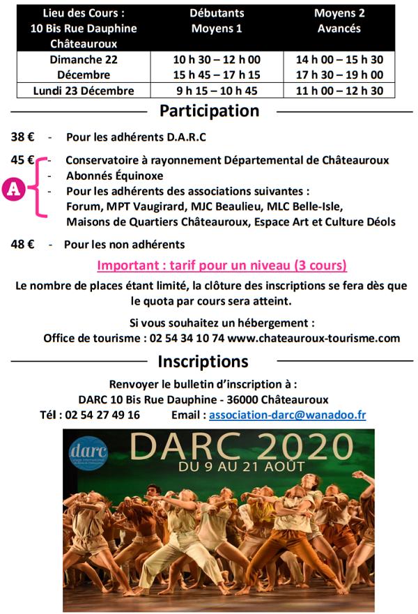 x22 - Les 22 ezt 23 décembre - CHATEAUROUX  - Stage de Modern Jazz avec Bruno Agati 12-2310