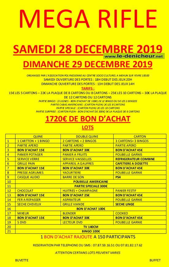 x28 - SAM 28 décembre - MEHUN /Yèvre - Rifles de l'Association Polynésienne */ 12-28_12