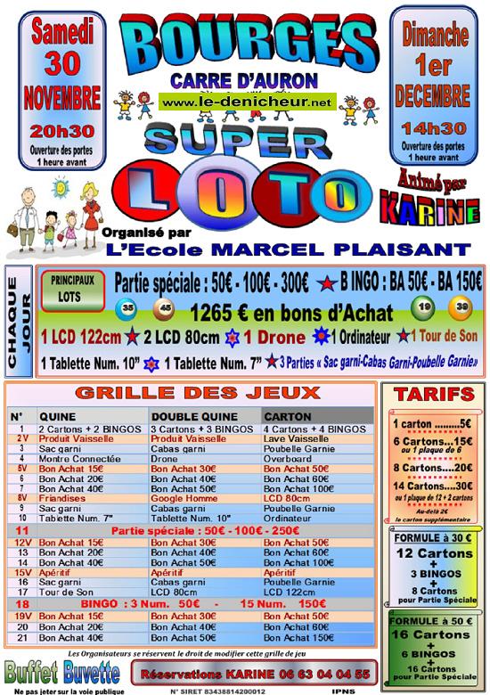 x01 - DIM 01 décembre - BOURGES - Loto de l'Ecole Marcel Plaisant */ 12-30_11