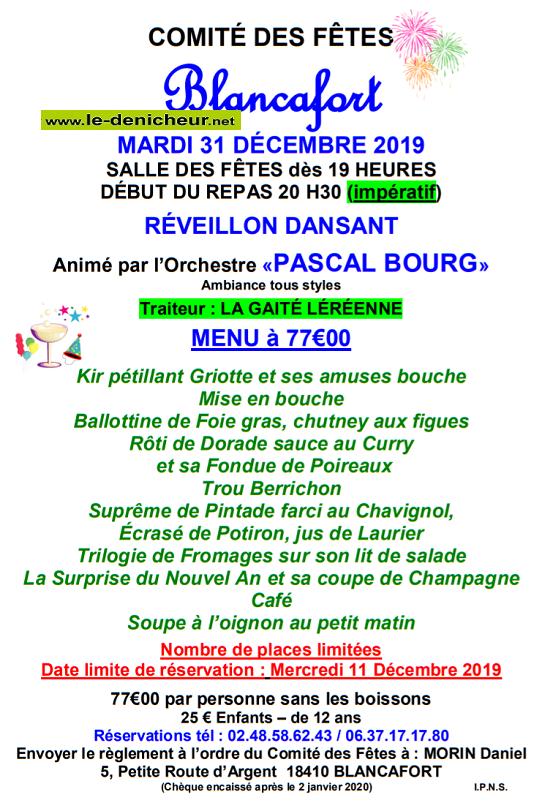 x31 - MAR 31 décembre 2019 - BLANCAFORT - Réveillon COMPLET*/ 12-31_18