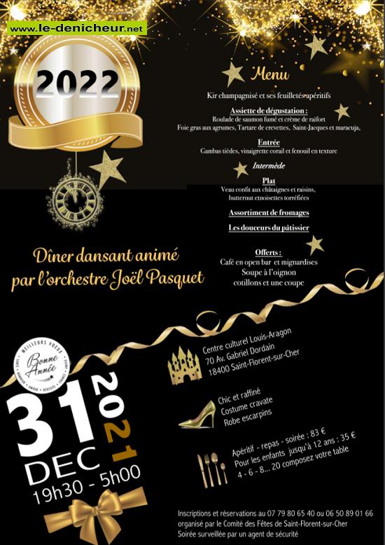 x31 - VEN 31 décembre 2021 - ST-FLORENT /Cher - Réveillon dansant */ 12-31_29