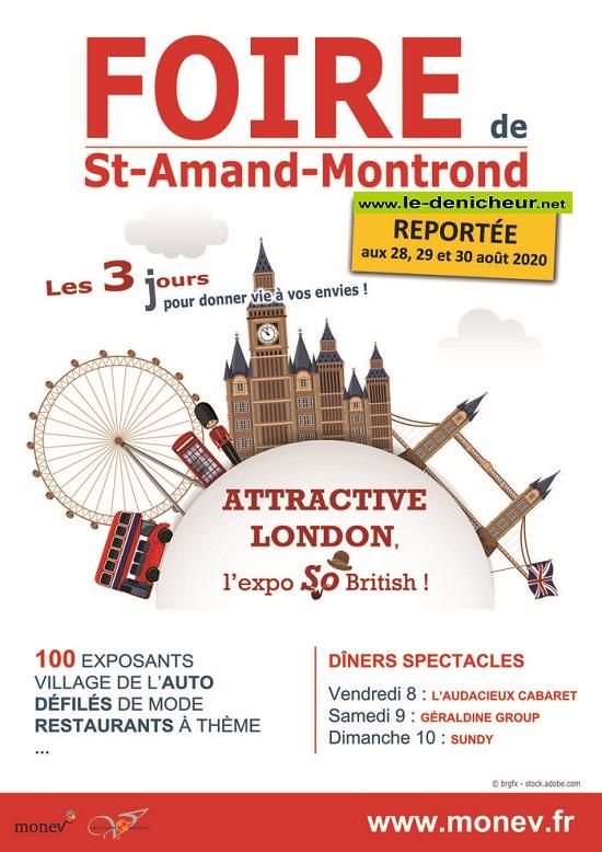 h28 - Du 28 au 30 août - FOIRE de ST-AMAND-MONTROND annulée 15879710