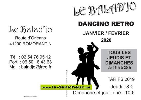 b02 - DIM 02 février - ROMORANTIN (41) - Thé dansant avec Franck Sirotteau  2020-410
