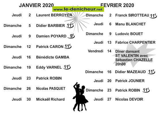 b09 - DIM 09 février - ROMORANTIN (41) - Thé dansant avec Ludovic Bouet  2020-411