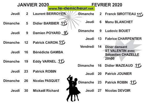 b02 - DIM 02 février - ROMORANTIN (41) - Thé dansant avec Franck Sirotteau  2020-411