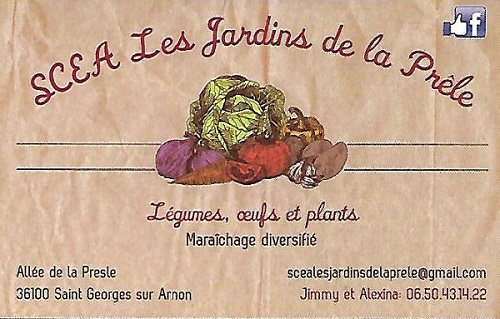 k07. ST-GEORGES sur ARNON - SCEA LES JARDINS DE LA PRÊLE - Légumes, oeufs et plants 50010