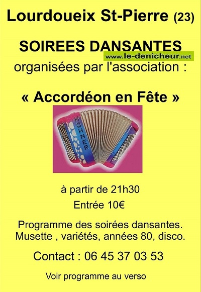 b29 - SAM 29 février - LOURDOUEIX St-Pierre - Soirée dansante avec S. Chazelle .*/ Acc_re11