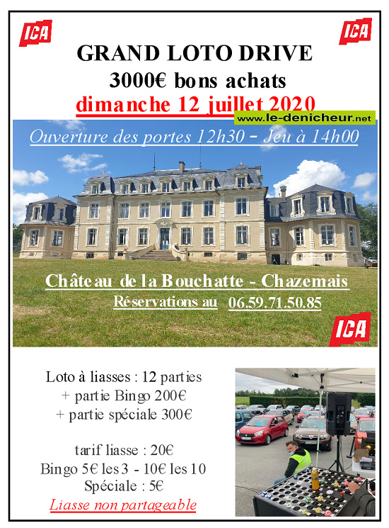 g12 - DIM 12 juillet - CHAZEMAIS - Loto drive d'ICA INFO TV */ Affich19