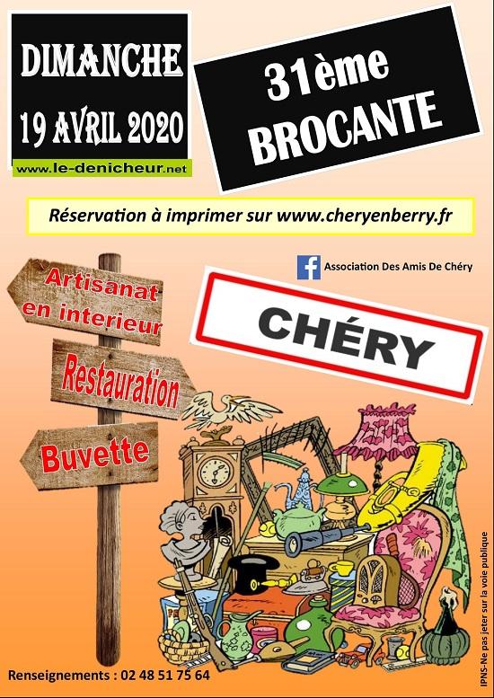 d19 - DIM 19 avril - CHERY - Brocante des Amis de Chéry */ Flys_c10