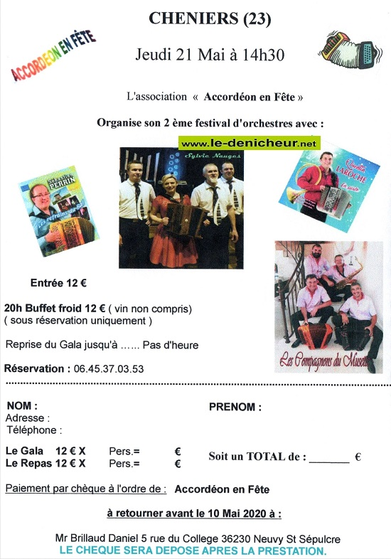 e21 - JEU 21 mai - CHENIERS - Festival d'orchestres .*/ Img20210